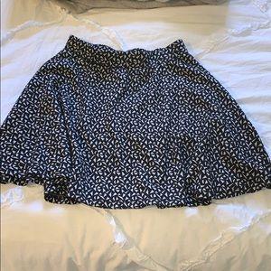 Black and White Geometrical Skirt